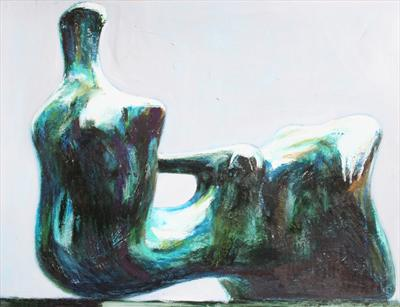Study from Henry Moore-Reclining Figure:Hand 1979