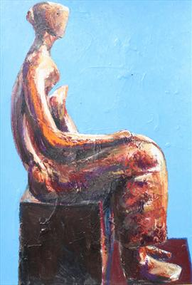 Study from Henry Moore-Working Model for Seated Woman 1980