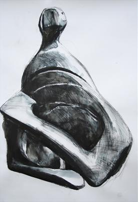 Study from Henry Moore-Girl with Crossed Arms 1980(PS)