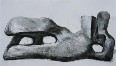 Study from Henry Moore-Reclining Figure 1959-64(Prep Study)