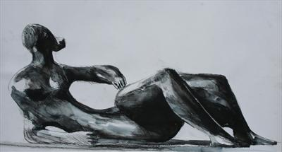 Study from Henry Moore-Reclining Figure 1982(Prep Study)