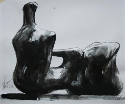 Study from Henry Moore-Reclining Figure:Hand 1979(P.S)