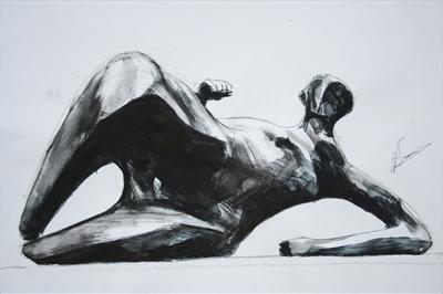Study from Henry Moore-Reclining Woman:Elbow 1981(P.S)