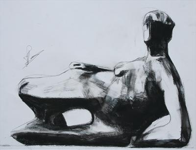 Study from Henry Moore-Reclining Woman:Elbow 1981(2)(P.S)
