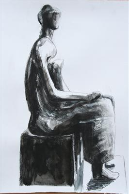 SfHM-Working Model for Seated Woman 1980(Prep Study)
