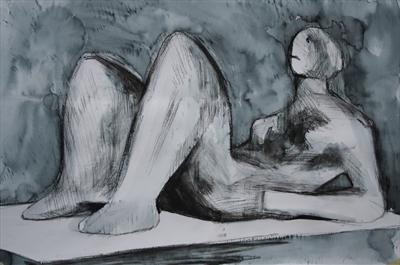 Study from Henry Moore-Drapped Reclining Figure 1978(P.S)
