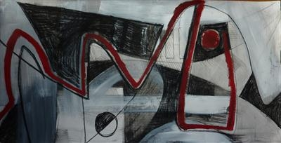 Charcoal and Acrylic Abstraction 7