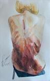 Back Study 1 by Josh Bowe, Painting, Watercolour on Paper