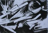 Charcoal Abstract 1 by Josh Bowe, Drawing, Charcoal on Paper
