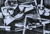 Charcoal Abstract 2 by Josh Bowe, Drawing, Charcoal on Paper