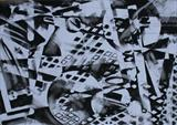 Charcoal Abstract 3 by Josh Bowe, Drawing, Charcoal on Paper