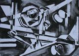 Charcoal Abstract 4 by Josh Bowe, Drawing, Charcoal on Paper