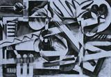 Charcoal Abstract 5 by Josh Bowe, Drawing, Charcoal on Paper