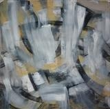 Charcoal and Acrylic Abstraction 2 by Josh Bowe, Painting, Mixed Media