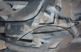 Charcoal and Acrylic Abstraction 3 by Josh Bowe, Painting, Mixed Media