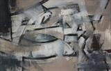 Charcoal and Acrylic Abstraction 4 by Josh Bowe, Painting, Mixed Media