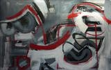 Charcoal and Acrylic Abstraction 5 by Josh Bowe, Painting, Mixed Media