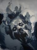 Corroded Cohesion - Prep Study 15(Larger Version Portrait) by Josh Bowe, Painting, Acrylic on paper