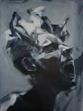 Corroded Cohesion - Prep Study 19(Larger Version Portrait) by Josh Bowe, Painting, Acrylic on paper