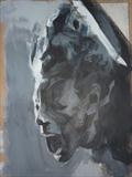 Corroded Cohesion - Prep Study 22(Smaller Version Portrait) by Josh Bowe, Painting, Acrylic on paper