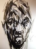 Imaginary Portrait 30 by Josh Bowe, Painting, Ink on Paper
