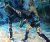 Kuebiko(Larger Scale Painting)One by Josh Bowe, Painting, Oil on canvas