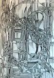Line Abstract 1 by Josh Bowe, Drawing, Pen on Paper