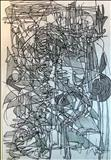Line Abstract 3 by Josh Bowe, Drawing, Pen on Paper