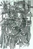 Line Abstract 5 by Josh Bowe, Drawing, Pen on Paper
