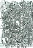 Line Abstract 6 by Josh Bowe, Drawing, Pen on Paper