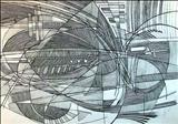 Line abstract 2 by Josh Bowe, Drawing, Pen on Paper