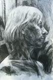 Portrait(sketch) by Josh Bowe, Drawing, Conte Crayon