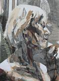 Portrait of Viv(Collage and Squares) by Josh Bowe, Painting, Collage