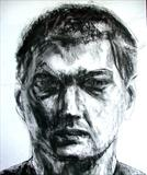 Self Portrait 3 by Josh Bowe, Drawing, Charcoal on Paper