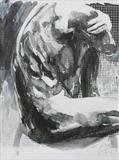Truncated Torso 8(Ink Wash) by Josh Bowe, Painting, Collage