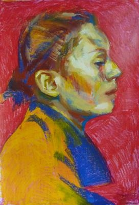 Caviler by Josh Bowe, Painting, Oil Pastel on Board