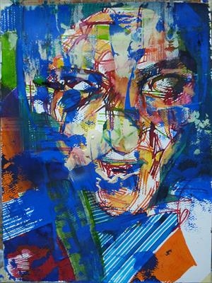 Chicane by Josh Bowe, Painting, Mixed Media on paper