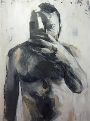 George by Josh Bowe, Painting, Acrylic on paper
