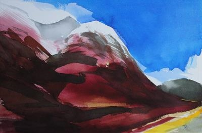 Glencoe-Initial Study 2 by Josh Bowe, Painting, Ink on Paper