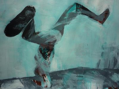 Initial Choreography Study 7 by Josh Bowe, Painting, Acrylic on paper