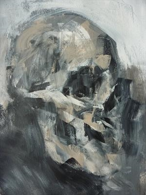 Inkling Skull by Josh Bowe, Painting, Acrylic on paper