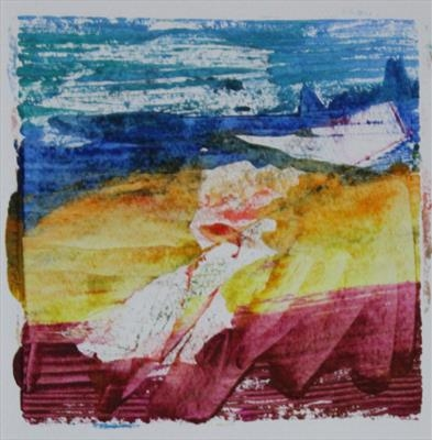 Landscape Greetings Card(Monotype) 1 by Josh Bowe, Artist Print