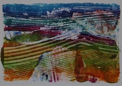 Landscape Greetings Card(Monotype) 13 by Josh Bowe, Artist Print
