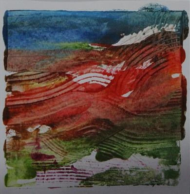 Landscape Greetings Card(Monotype) 2 by Josh Bowe, Artist Print