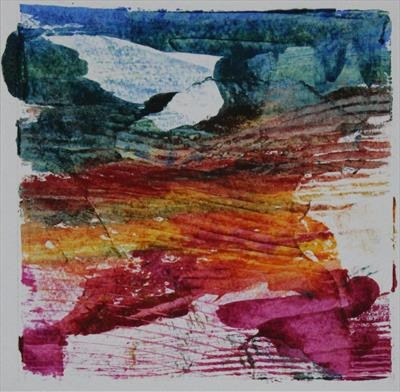Landscape Greetings Card(Monotype) 3 by Josh Bowe, Artist Print