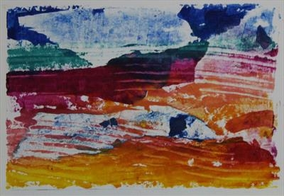 Landscape Greetings Card(Monotype) 5 by Josh Bowe, Artist Print