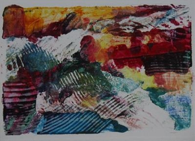 Landscape Greetings Card(Monotype) 9 by Josh Bowe, Artist Print