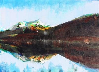 Loch Creran by Josh Bowe, Painting, Oil on canvas
