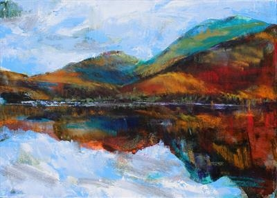 Loch Creran, overlooking Sgulaird by Josh Bowe, Painting, Oil on canvas