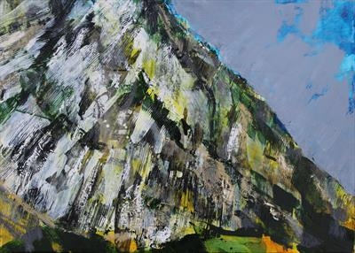 Malham Cove One by Josh Bowe, Painting, Oil on canvas